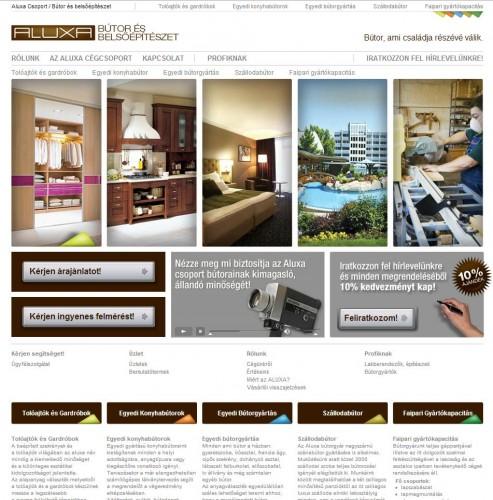 Aluxa weboldal készítés