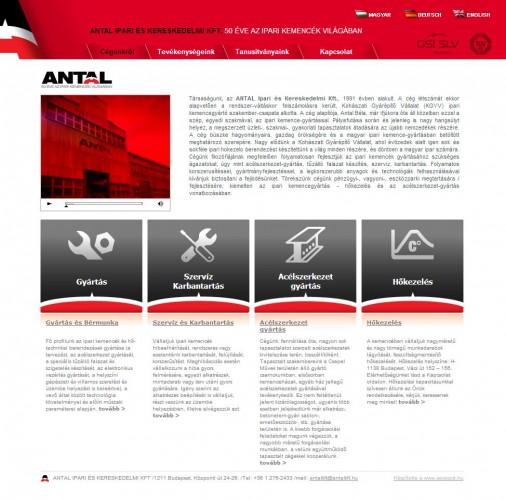 Weboldal készítés az Antal Kft. részére