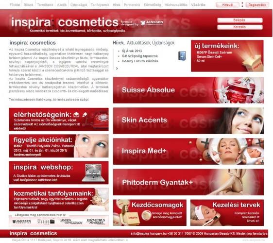 weboldal készítés inspira:cosmetics