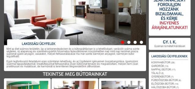weboldal készítés - albabútor - weboldalak-keszitese.hu