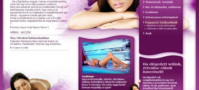 weboldal készítés - angel beauty - weboldalak-keszitese.hu