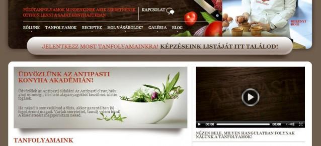 weboldal készítés - antipasti - weboldalak-keszitese.hu