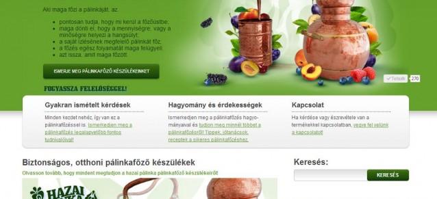 weboldal készítés - hazai pálinka - weboldalak-keszitese.hu