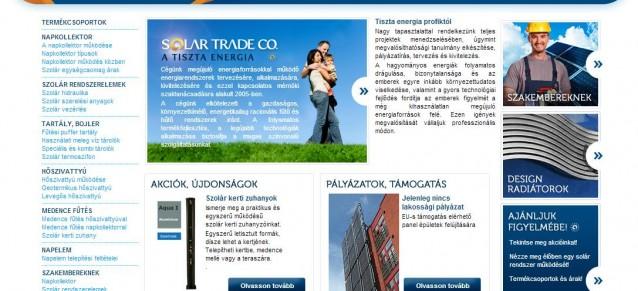 weboldal készítés - solartrade - weboldalak-keszitese.hu